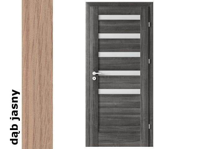 Drzwi okleinowane Decor dąb jasny D5 80 prawe zamek oszcz. zawiasy srebrne Verte