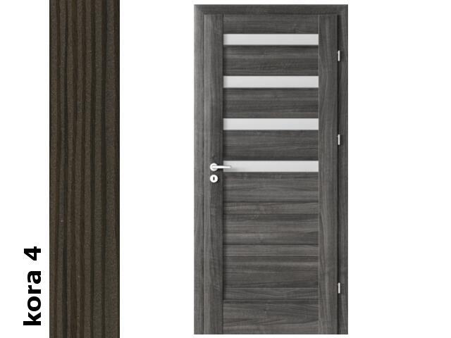 Drzwi okleinowane Cortex kora 4 D4 80 prawe zawiasy srebrne Verte