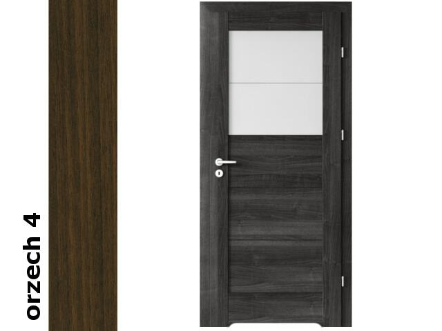 Drzwi okleinowane Dur orzech 4 B2 60 lewe bl. wc podcięcie went. zaw. srebrne Verte