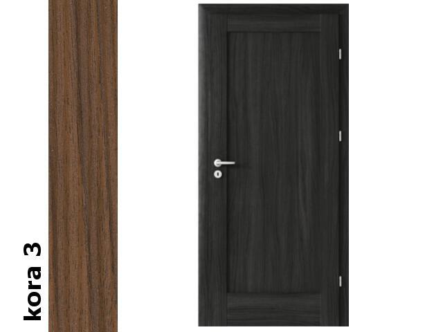 Drzwi okleinowane Cortex kora 3 E0 90 prawe zawiasy srebrne Verte