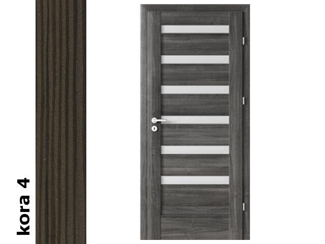 Drzwi okleinowane Cortex kora 4 D6 80 lewe zawiasy srebrne Verte