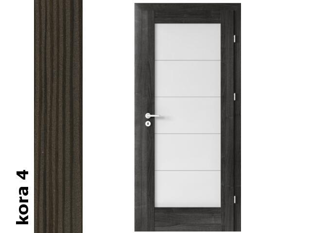 Drzwi okleinowane Cortex kora 4 B5 80 lewe zawiasy srebrne Verte