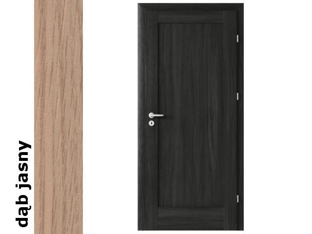 Drzwi okleinowane Decor dąb jasny E0 80 prawe zawiasy srebrne Verte