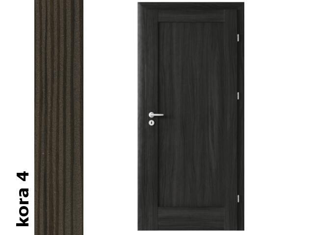 Drzwi okleinowane Cortex kora 4 E0 90 lewe zamek oszcz. zawiasy srebrne Verte