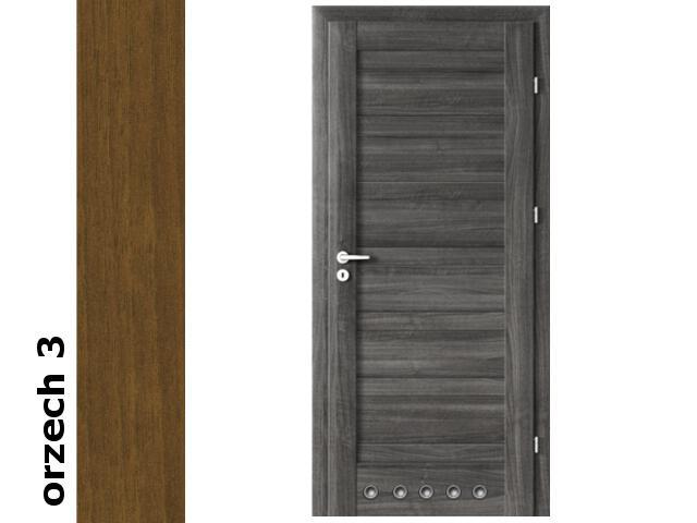 Drzwi okleinowane Dur orzech 3 D0 70 prawe blokada wc tuleje zawiasy srebrne Verte