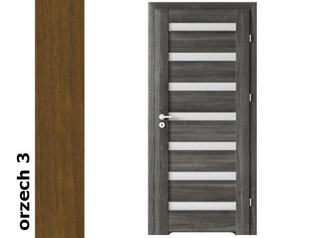 Drzwi okleinowane Dur orzech 3 D7 80 prawe blokada wc podc. went. zawiasy srebrne Verte