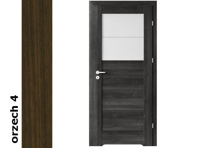 Drzwi okleinowane Dur orzech 4 B2 60 prawe bl. wc podcięcie went. zaw. srebrne Verte