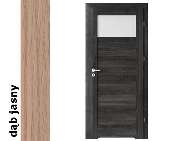 Drzwi okleinowane Decor dąb jasny B1 80 prawe blokada wc podc.went. zaw. srebrne Verte