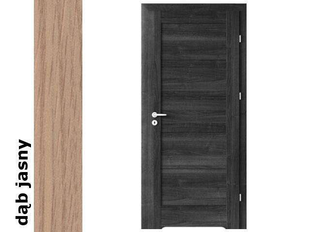 Drzwi okleinowane Decor dąb jasny B0 80 prawe podcięcie went. zawiasy srebrne Verte