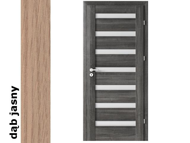 Drzwi okleinowane Decor dąb jasny D7 80 lewe zamek patent zawiasy srebrne Verte
