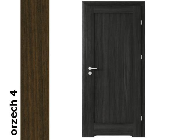 Drzwi okleinowane Dur orzech 4 E0 100 lewe zamek patent podc.went. zawiasy srebrne Verte