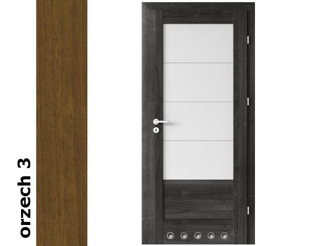 Drzwi okleinowane Dur orzech 3 B4 80 prawe blokada wc tuleje zawiasy złote Verte