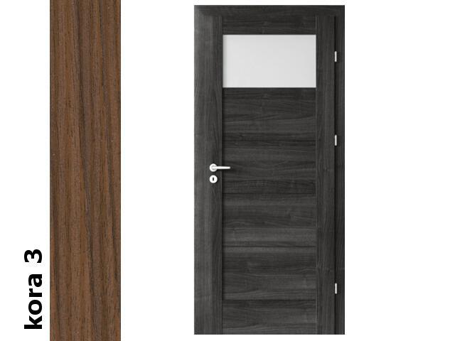 Drzwi okleinowane Cortex kora 3 B1 60 lewe blokada wc zawiasy srebrne Verte