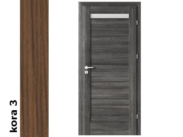 Drzwi okleinowane Cortex kora 3 D1 80 lewe zamek patent zawiasy srebrne Verte