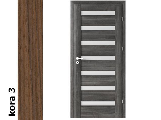 Drzwi okleinowane Cortex kora 3 D7 80 lewe zawiasy srebrne Verte