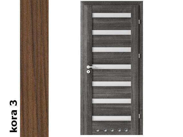 Drzwi okleinowane Cortex kora 3 D7 80 prawe blokada wc tuleje zawiasy srebrne Verte