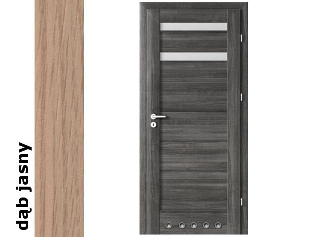 Drzwi okleinowane Decor dąb jasny D2 70 prawe blokada wc tuleje zaw. srebrne Verte