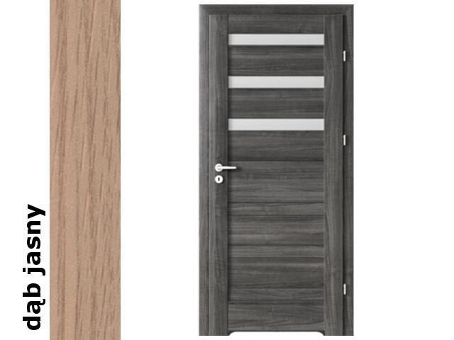 Drzwi okleinowane Decor dąb jasny D3 70 prawe blokada wc podc.went. zaw. srebrne Verte