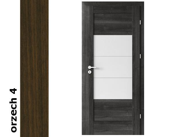 Drzwi okleinowane Dur orzech 4 B7 80 prawe zamek patent zawiasy srebrne Verte