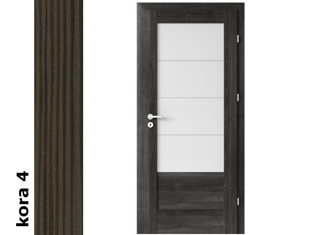Drzwi okleinowane Cortex kora 4 B4 80 prawe zawiasy srebrne Verte