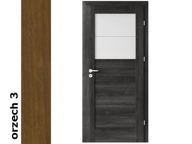 Drzwi okleinowane Dur orzech 3 B2 60 prawe zamek patent zawiasy srebrne Verte