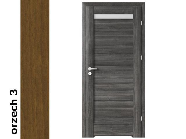 Drzwi okleinowane Dur orzech 3 D1 70 lewe podcięcie went. zawiasy srebrne Verte