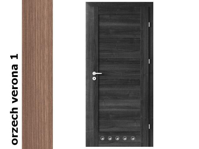 Drzwi okleinowane Decor orzech 1 B0 70 prawe blokada wc tuleje zawiasy srebrne Verte