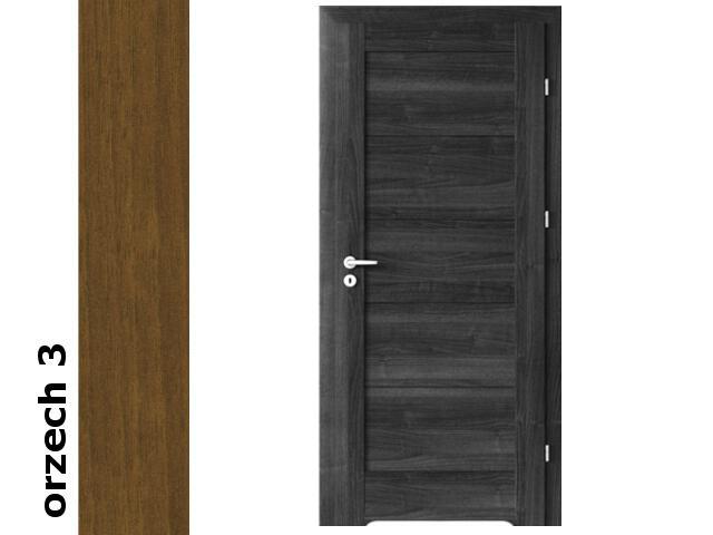 Drzwi okleinowane Dur orzech 3 B0 80 prawe blokada wc podc. went. zawiasy srebrne Verte