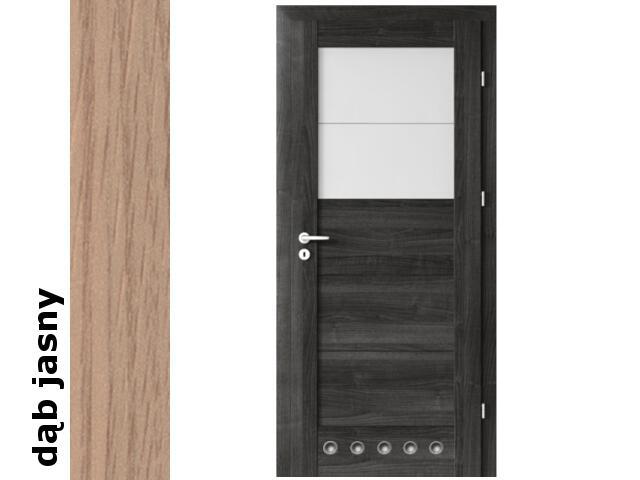 Drzwi okleinowane Decor dąb jasny B2 70 lewe blokada wc tuleje zaw. srebrne Verte