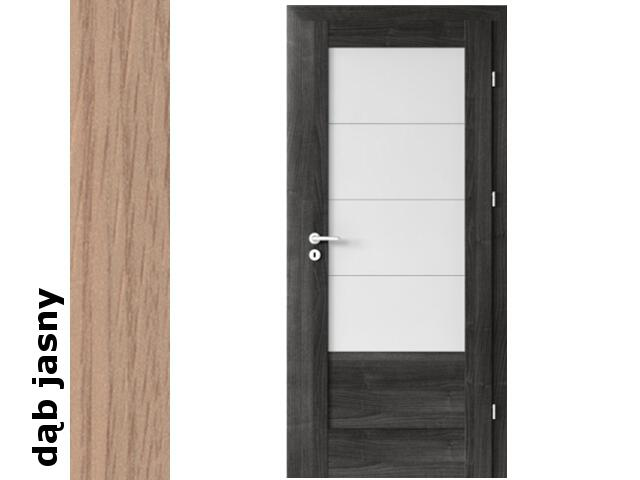 Drzwi okleinowane Decor dąb jasny B4 70 lewe zawiasy srebrne Verte