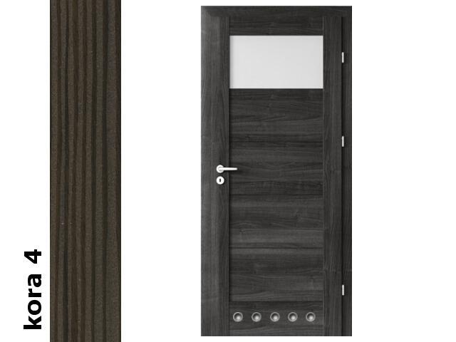 Drzwi okleinowane Cortex kora 4 B1 80 lewe blokada wc tuleje zawiasy srebrne Verte