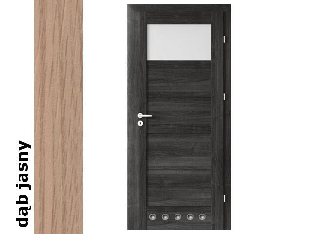 Drzwi okleinowane Decor dąb jasny B1 70 prawe blokada wc tuleje zaw. srebrne Verte