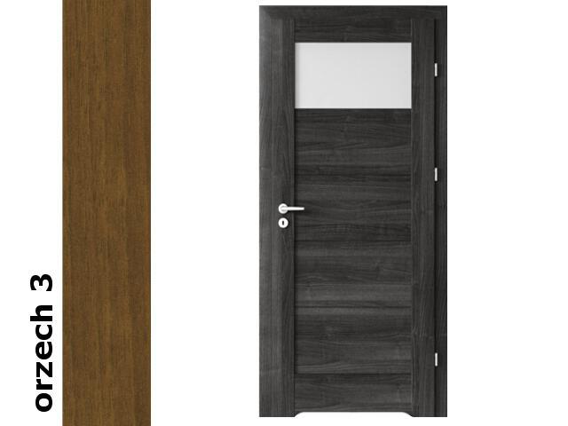 Drzwi okleinowane Dur orzech 3 B1 80 prawe blokada wc podc. went. zawiasy srebrne Verte