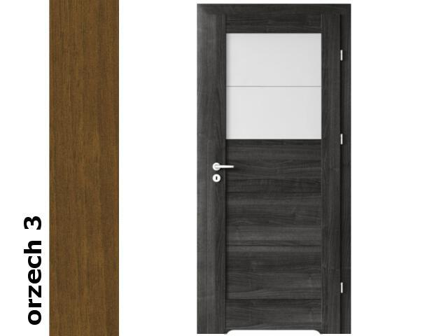 Drzwi okleinowane Dur orzech 3 B2 80 prawe blokada wc podc. went. zawiasy srebrne Verte