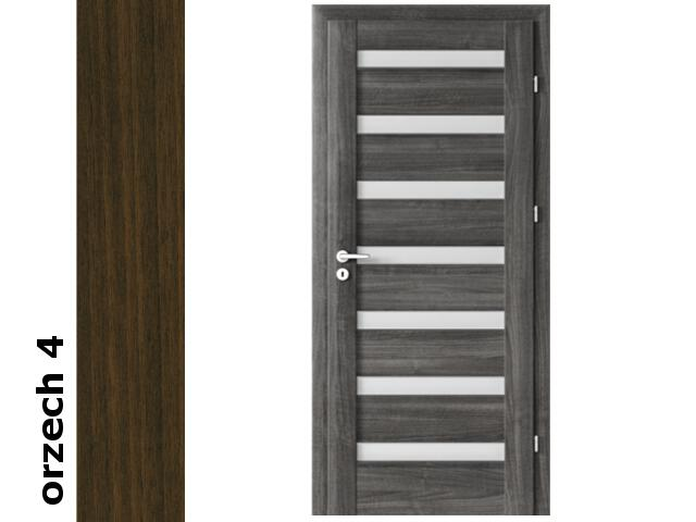 Drzwi okleinowane Dur orzech 4 D7 60 lewe zawiasy srebrne Verte