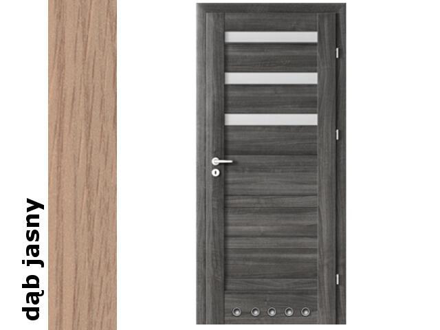 Drzwi okleinowane Decor dąb jasny D3 80 lewe blokada wc tuleje zaw. srebrne Verte