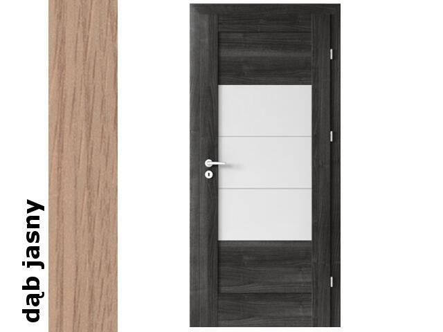 Drzwi okleinowane Decor dąb jasny B7 80 lewe zawiasy srebrne Verte