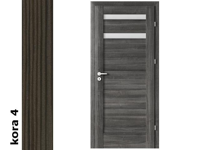 Drzwi okleinowane Cortex kora 4 D2 80 lewe blokada wc zawiasy srebrne Verte
