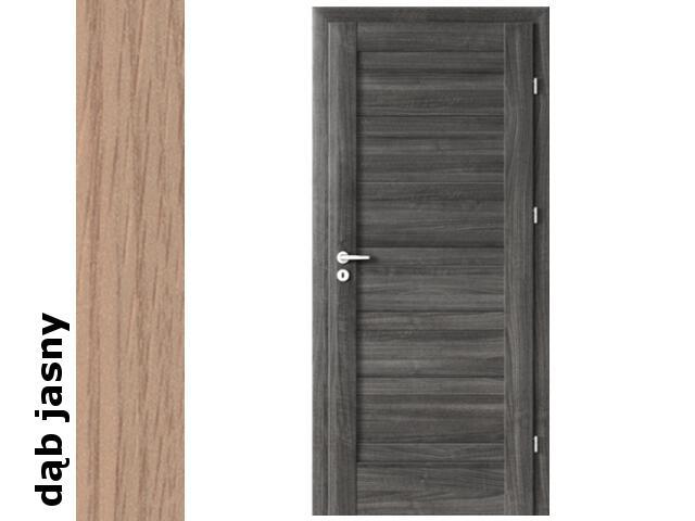 Drzwi okleinowane Decor dąb jasny D0 70 prawe blokada wc zawiasy srebrne Verte