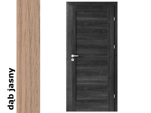 Drzwi okleinowane Decor dąb jasny B0 80 lewe zamek patent zawiasy srebrne Verte