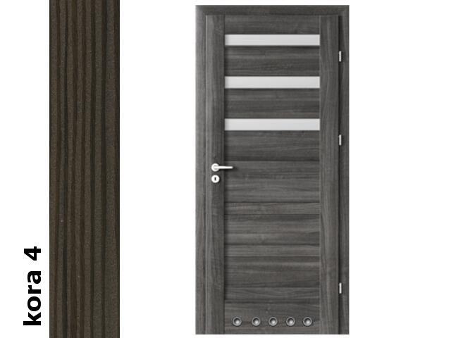 Drzwi okleinowane Cortex kora 4 D3 80 lewe blokada wc tuleje zawiasy srebrne Verte