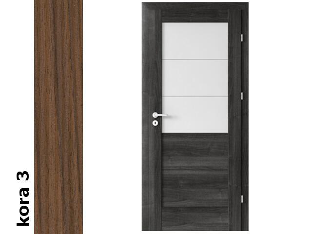 Drzwi okleinowane Cortex kora 3 B3 80 lewe zamek patent zawiasy srebrne Verte