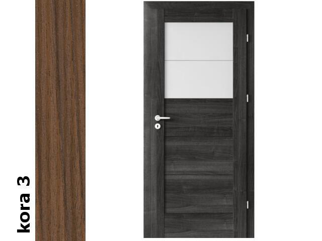 Drzwi okleinowane Cortex kora 3 B2 80 prawe zamek patent zawiasy srebrne Verte
