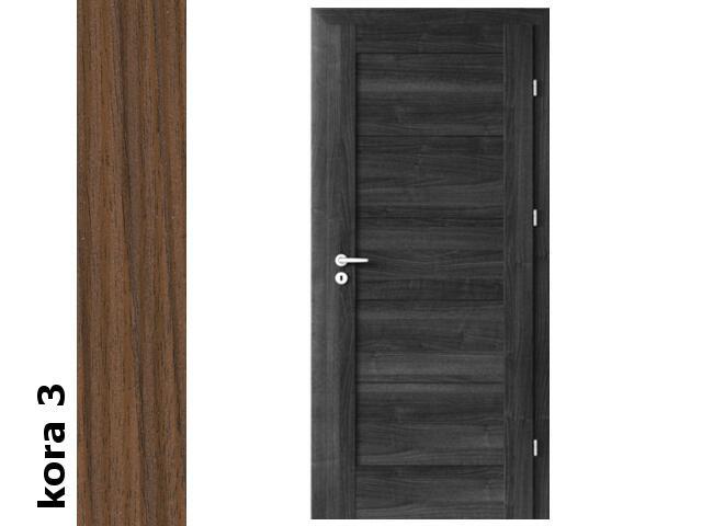 Drzwi okleinowane Cortex kora 3 B0 80 prawe zamek patent zawiasy srebrne Verte