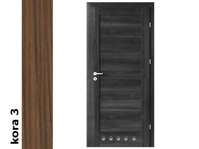 Drzwi okleinowane Cortex kora 3 B0 60 prawe blokada wc tuleje zawiasy srebrne Verte