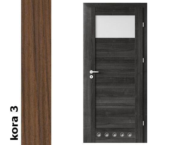 Drzwi okleinowane Cortex kora 3 B1 80 prawe blokada wc tuleje zawiasy srebrne Verte