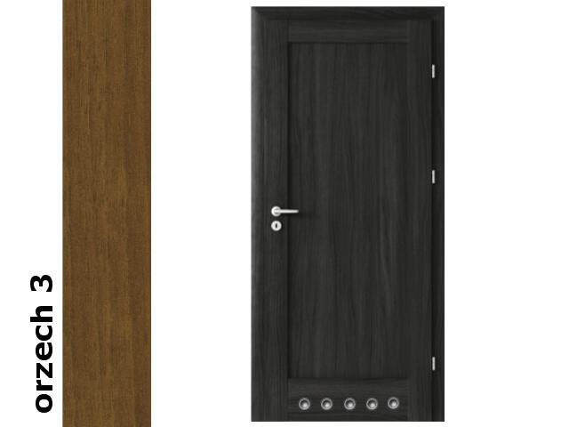 Drzwi okleinowane Dur orzech 3 E0 80 prawe blokada wc tuleje zawiasy złote Verte