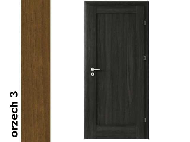 Drzwi okleinowane Dur orzech 3 E0 70 lewe zawiasy złote Verte