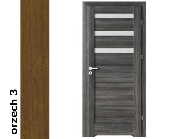 Drzwi okleinowane Dur orzech 3 D3 80 prawe blokada wc podc. went. zawiasy srebrne Verte