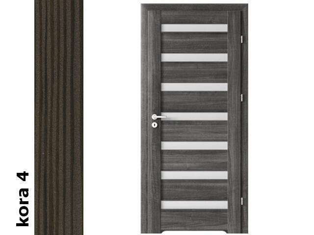 Drzwi okleinowane Cortex kora 4 D7 80 prawe blokada wc podc.went. zawiasy srebrne Verte
